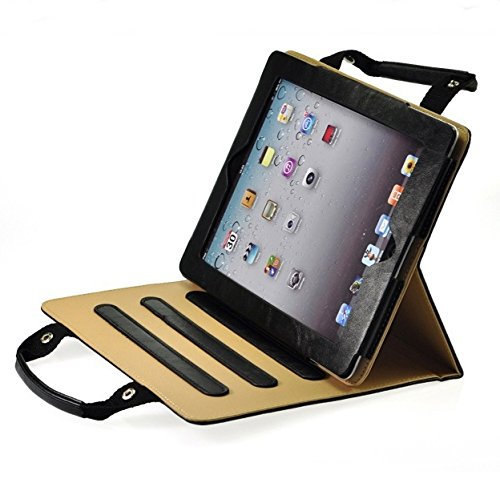 ProElite Smart Professional Bag Cover Case For Apple iPad Air 2 / iPad 6  Black   Sleep/Wake