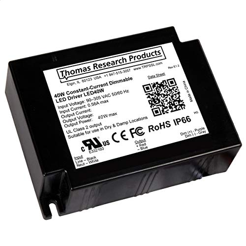 Hubbell LED 40W-024-C1670-D Constant Current Driver, dimmable