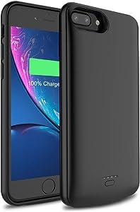 5500mAh Battery Case Charging case Charger case for iPhone 6 Plus / 7 Plus / 8 Plus -Black