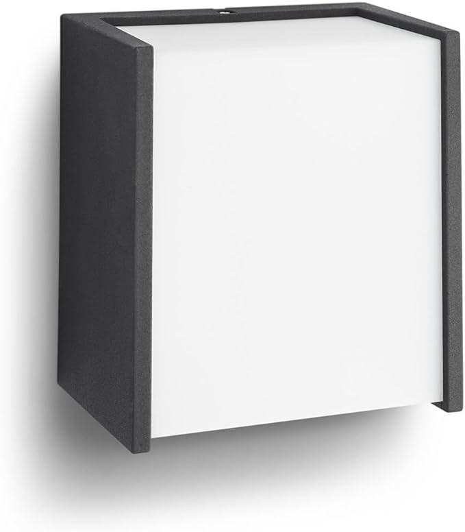 Image ofPhilips myGarden Macaw - Aplique de exterior, sin sensor de movimiento, LED integrado, 3 W, luz blanca cálida, IP44, Color Negro           [Clase de eficiencia energética A++]