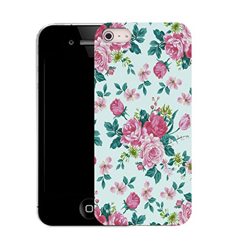 Mobile Case Mate iPhone 5c clip on Silicone Coque couverture case cover Pare-chocs + STYLET - delightful floral pattern (SILICON)