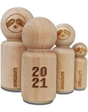 2021 Stacked Graduation Shadow Rubber Stamp for Stamping Crafting Planners - 1/2 Inch Mini