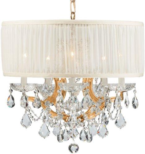 Gd Cls Crystorama Lighting (Crystorama 4415-GD-SAW-CL-S, Brentwood Swarovski Crystal Chandelier Lighting, 7LT, 420 Watts, Gold)