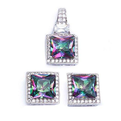 oval imperial topaz stud earrings - 9
