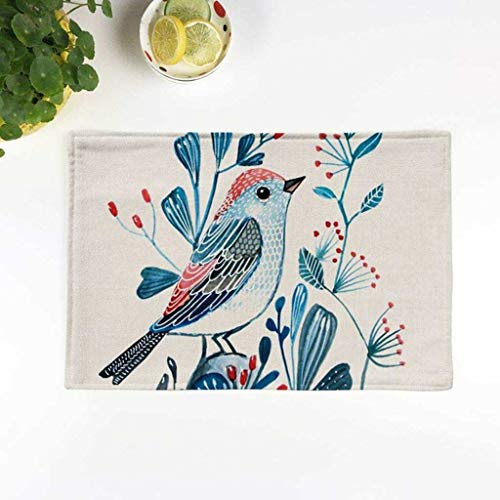 Agordo Table Mats Magpie Bird Style Non-Slip Heat Resistant Placemat Coasters #1