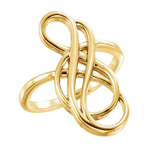 FB Jewels 14K Yellow Gold Freeform Ring Size 7
