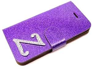 Exklusive-Cad VIP Glamour SAM-S3-Etui-Glamour-Z-Lila - Carcasa tipo libro para Samsung Galaxy S3 (cierre magnético), diseño con purpurina y letra Z con cristales, color morado