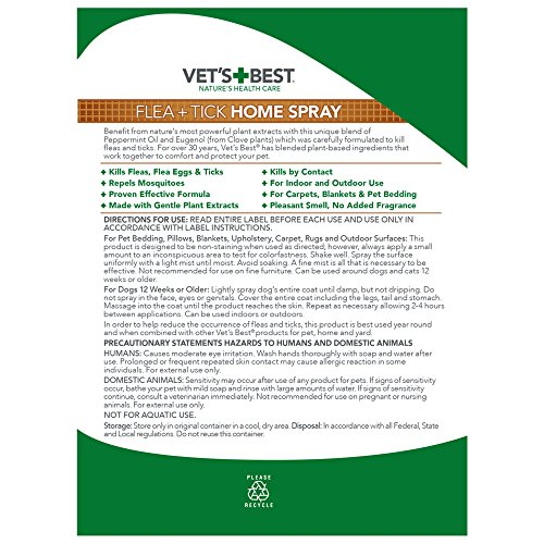 Large Product Image of Vet's Best Flea and Tick Home Spray for Dogs and Home, USA Made