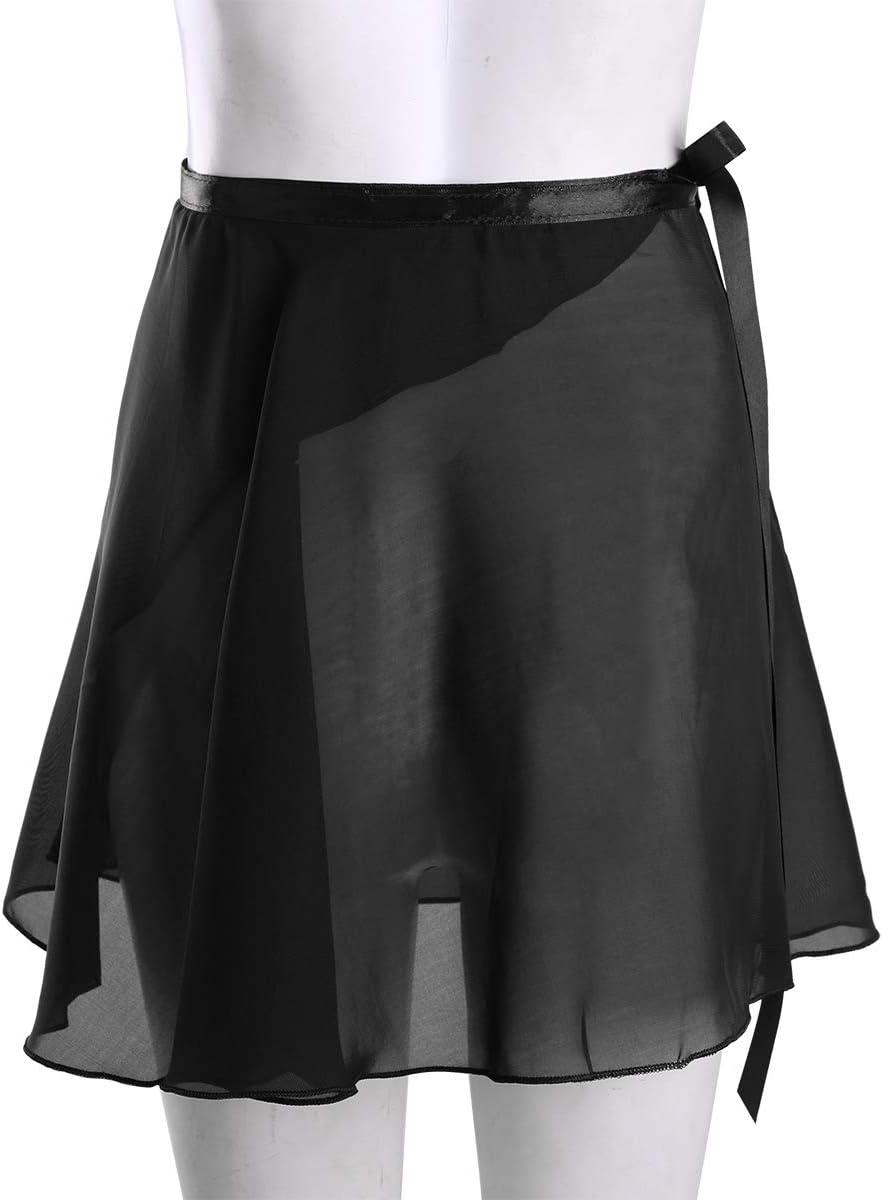 Alvivi Falda de Abrigo Danza de Ballet Gasa con Lazo de la Cintura Vestido Dancewear para Chica Mujer Clubwear Danza Atractiva