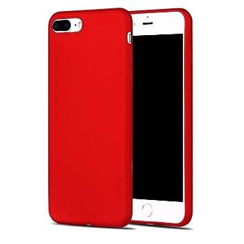 X-level Funda para iPhone 7 Plus, Carcasa para iPhone 8 Plus Suave TPU Gel Silicona Ultra Fina Anti-Arañazos y Protección a Bordes Funda Phone Case ...