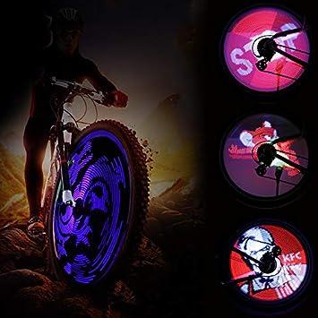 YHLVE 64 LED RGB Rueda de Bicicleta habló luz Impermeable ...