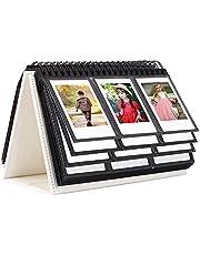 96 Pockets Desk Calendar Album for Fuji Instant Mini 11/Mini 9/Mini 90/Mini Liplay/Mini Link, Polaroid Z2300/Polaroid PIC-300P/Polaroid Z2300/Polaroid Snap Film,2X3 inch Name Card (White)
