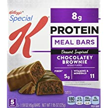 Special K Protein Meal Bars, Chocolatey Brownie, 5 Count (Pack of 6)