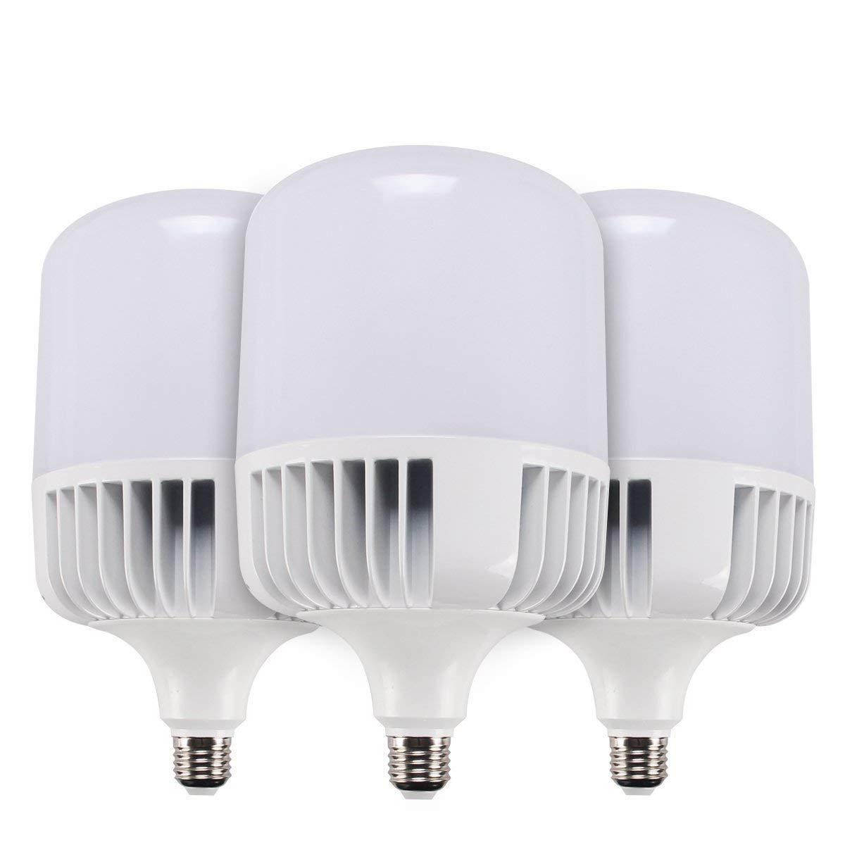 SUNTHIN (3-Pack) Daylight LED Bulbs, 5500K, 4000LM, 300W Replacement, Yard Light Bulb, LED Corn Light Bulb