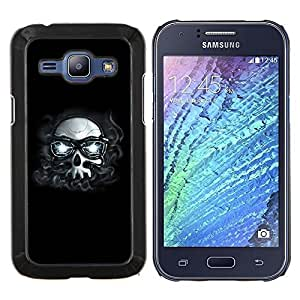 For Samsung Galaxy J1 J100 Case , Hipster Cráneo con los vidrios- Diseño Patrón Teléfono Caso Cubierta Case Bumper Duro Protección Case Cover Funda