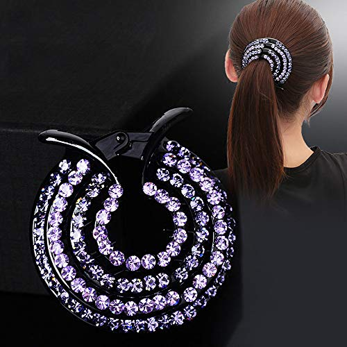 WensLTD Clearance! Women Girls Hair Clips Nest Rhinestone Hairpin Ponytail Bun Holder Accessory (E) by WensLTD (Image #2)