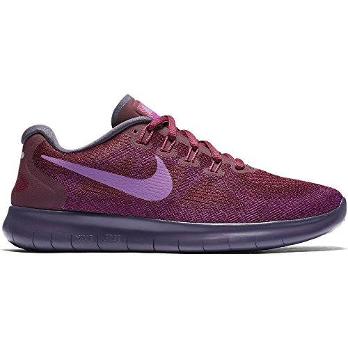NIKE Women's Free RN 2017 Running Shoe Bordeaux/Monarch Purple/Bold Berry Size 6 M US