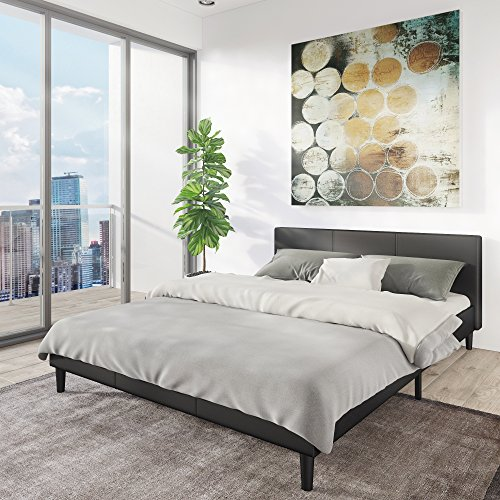 queen metal bed frame no box spring with headboard and footboard hooks ikea canada amazon modern style low profile platform upholstered bedroo