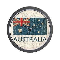 CafePress Vintage Australia Unique Decorative 10 Wall Clock