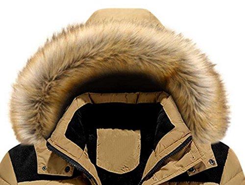 Cotone Grande Inverno Giacca Pfsyr Cappuccio Di Calda Con Rosso Giù Ispessimento D' Uomini BYwqzTY