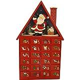 Christmas Decoration Wooden House and Santa Advent Calendar (81-0550)