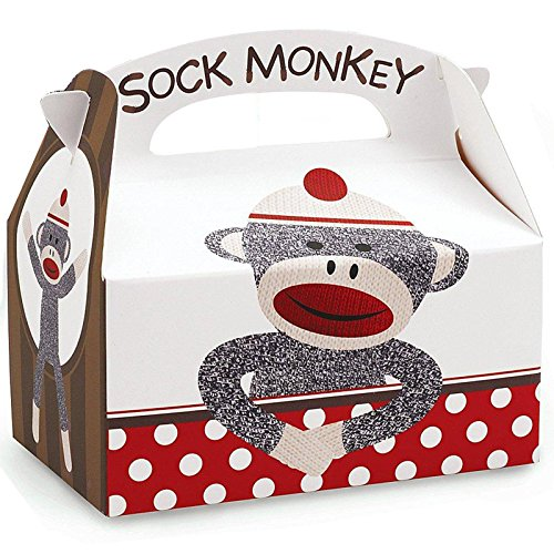 Sock Monkey Party Supplies - Empty Favor Boxes (4) (Sock Puppet Monkey Costume)
