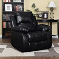 Handy Living RCL11-DAB19 ProLounger Renu Leather Electric Power Wall Hugger Recliner, Black
