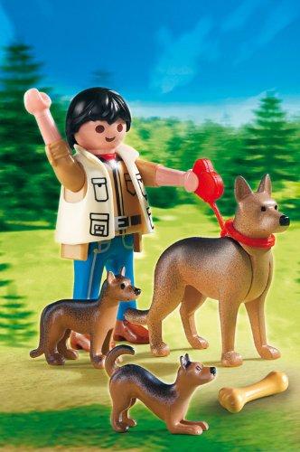 Playmobil-Perros-Pastor-alemn-con-cachorros-5211