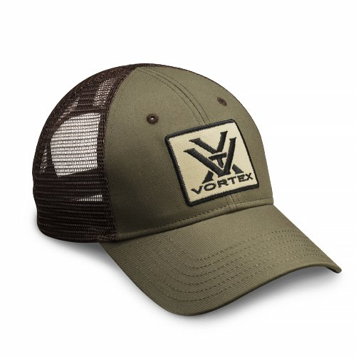 Vortex Optics Green and Brown Mesh Baseball Cap