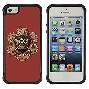 Hybrid Anti-Shock Defend Case for Apple iPhone 5 5S / Hipster Triangle Galaxy