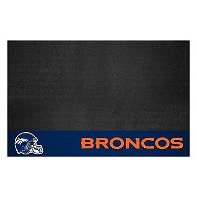 Fanmats 12183 NFL Denver Broncos Vinyl Grill Mat