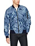 G-Star Raw Men's Rackam DC Bomber, Rinsed/Sartho Blue, Large