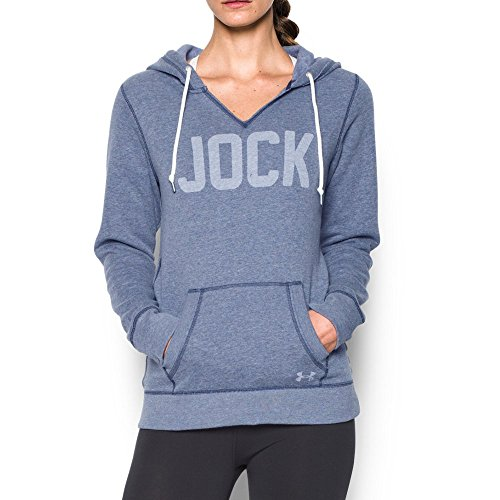 Under Armour Women's Favorite Fleece - Jock, Midnight Navy/White, X-Large