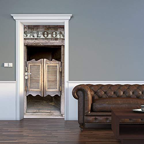 (ColorSpring 3D Vintage Door Door Decal Door Stickers Decor Door Mural Removable Vinyl Door Wall Mural Door Wallpaper for Home Décor(MT-008) )