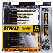 DEWALT DWA1240 Pilot Point Industrial Cobalt Drill Bit Set (14 Piece)
