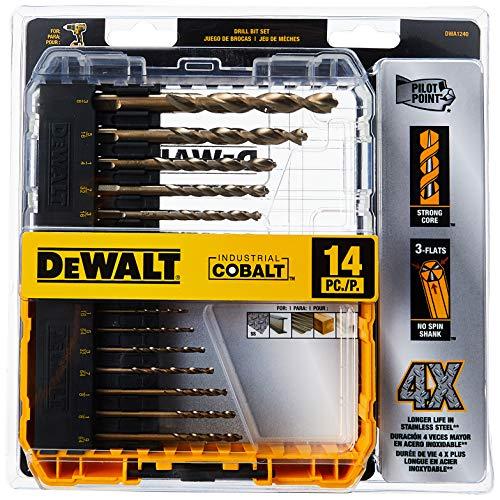 DEWALT Cobalt Drill Bit Set with Pilot Point