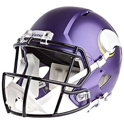 cd687746 Amazon.com : Riddell Minnesota Vikings Officially Licensed Speed Full Size  Replica Football Helmet : Sports & Outdoors