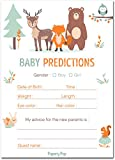 30 Baby Shower Prediction and Advice Cards, Boy or Girl - Baby Shower Games Decorations Activities Supplies Invitations - Woodland Animals