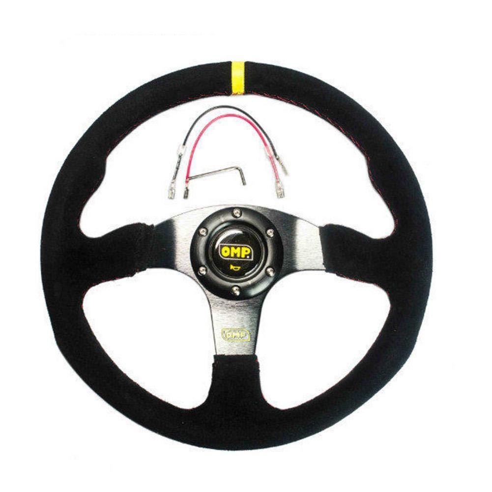 humflour Volant de Course Automobile Volant g/én/éral en su/ède de 14 Pouces 350MM pour Voiture OMP