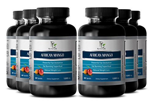 Beta-carotene powder - AFRICAN MANGO EXTRACT - Promotes muscular development - 6 Bottles 360 capsules by PL NUTRITION