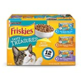 Purina Friskies Tasty Treasures With Cheese Adult Wet Cat Food Variety Pack - (12) 5.5 oz. Cans
