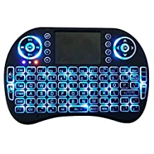 Mini Wireless Keyboard with Touchpad Mouse 2.4GHz LED Backlit Multi-media Handheld Android Keyboard for Pc, Pad, Xbox 360, Ps3, Google Android Tv Box, Htpc, Iptv, Raspberry Pi