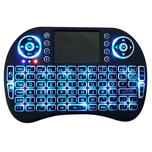 51aa0174e01 Mini Wireless Keyboard with Touchpad Mouse 2.4GHz LED Backlit Multi-media  Handheld Android Keyboard