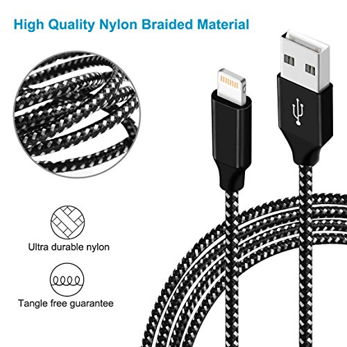 Lightning Cable iPhone Charger for iPhone 8, iPad Charger Lightning Cable Kit for iPhone X/8/7/6s/5s/Plus, iPad Pro/Air 2/Mini and More