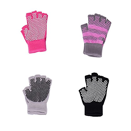 Yoga Gloves Non Slip Skid Pilates Barre with Grips for Women 4 Pack by HaveDream – DiZiSports Store