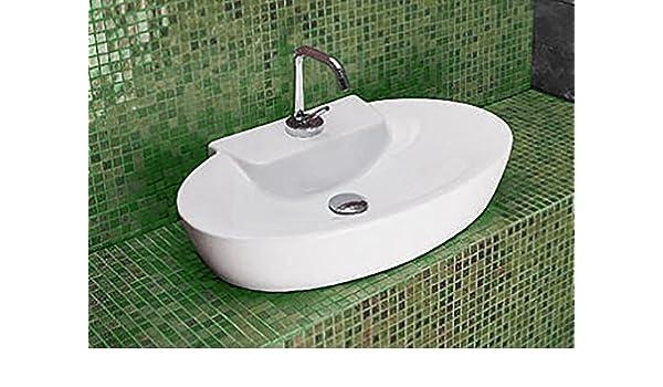 Lavabo Lavabo barreño D Apoyo, cm.58 x 38, Art Ceram Mod. Minimax: Amazon.es: Bricolaje y herramientas