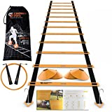 Scandinavian Sports Speed Training Set - Agility Ladder, Jump Rope, Sport Cones and Exercise folder - Premium TRAINING TOOL SET For Faster Footwork And Better Movement Skills by