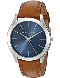 Michael Kors Men's Quartz Stainless Steel and Leather Automatic Watch, Color:Brown (Model: MK8508)