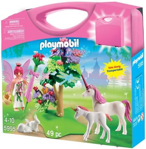 Playmobil - 5995 - Jeu de Construction - Valisette Fée et Licornes