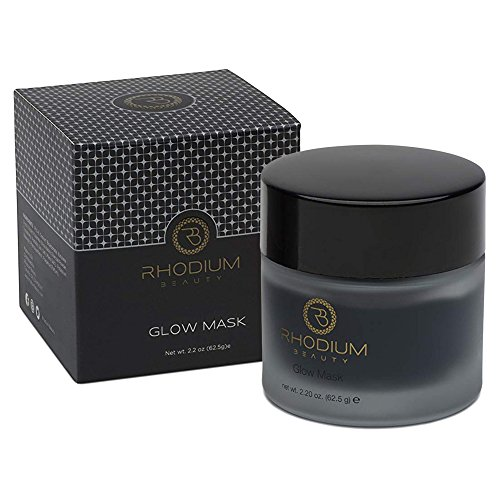 Facial glow mask for Women-Men by Rhodium Beauty; Hydrating Acne Face Mask from Japanese Organic Activated Charcoal-daily use deep cleansing exfoliating with moisturizing effects for sensitive skin